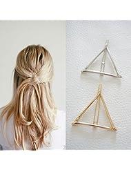 arpoador 1creux Triangle géométrique en métal Barrette épingles à cheveux accessoires cheveux Fashion Clip (or)