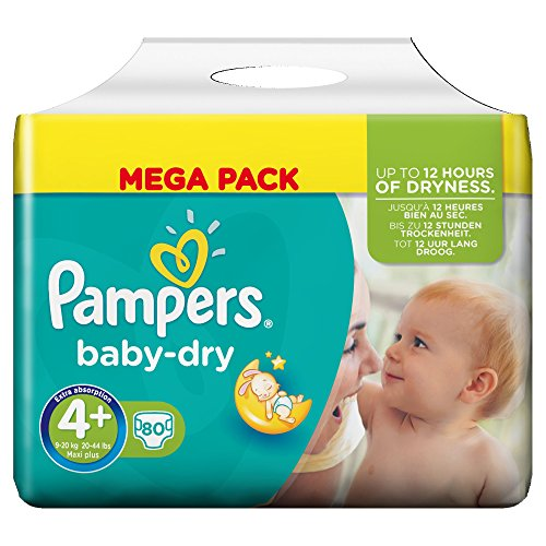 Pampers Baby Dry Nappies Mega Pack Size 4+ (Maxi+), 80 Nappies 51xG1ug4F 2BL
