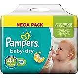 Pampers Baby Dry Windeln Mega Pack - Größe 4+ (Maxi+), 80 Windeln