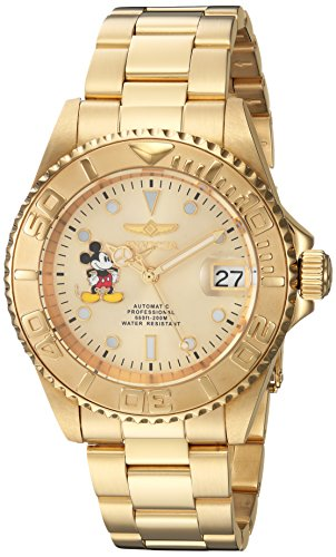 Invicta 22779 Disney Limited Edition - Mickey Mouse Unisex Wrist Watch Stainless Steel Automatic Champagne Dial