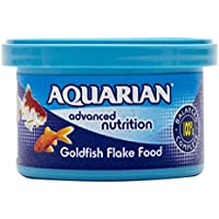 AQUARIAN Complete Nutrition, Aquarium Goldfish Food Flakes (Also Suitable for Small Pond Fish), 13 g Container