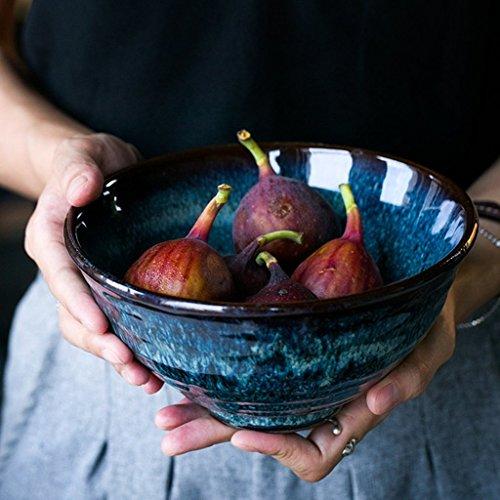 Creative Pottery Bowl Home Geschirr Salat Schüssel Ramen Suppe Schüssel Retro verglasten Tischgeschirr Schüssel Obst Platte