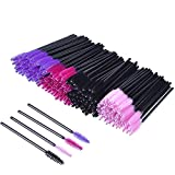 200 Pieces Disposable Mascara Wands Eyelash Brushes Eye Lash Makeup Applicators Cosmetic Brush Kit, Multicolor