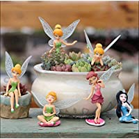 Chocozone 6PCS/Set Miniature Fairy Princess Garden Decor Home Decoration Mini Landscape Dolls for Girls