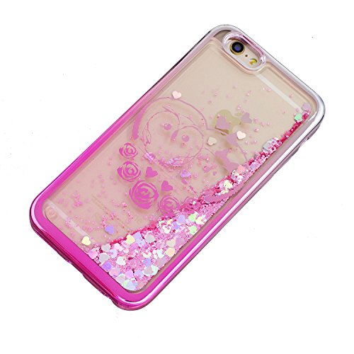Laoke für Apple iPhone 6 (4.7 Zoll) Hülle Schutzhülle Handy TPU Silikon Hülle Case Cover Durchsichtig Gel Tasche Bumper ( + Stöpsel Staubschutz) (3) 4