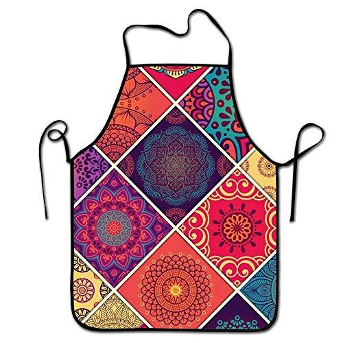 -Adjustable Kitchen Chef Apron-Halloween Spider,Commercial Men & Women Bib Apron for Cooking, Baking, Crafting, Gardening, BBQ