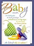 Riesen Geburt Grußkarte Karte Baby Schnuller A4