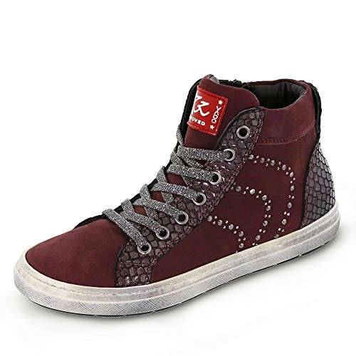 Vado , Chaussures bateau pour fille rouge Rot Rouge