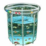 L&J Baby-schwimmbad Transparent Pvc Aufblasbare Baby planschbecken Verstellbar Aluminium-halterung-A...