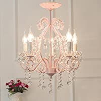 Wunderbar JILAN HOME  Europäischer Kristall Kronleuchter Schlafzimmer Restaurant Warm  Mädchen Zimmer Rosa 5 Kopf Kronleuchter E14
