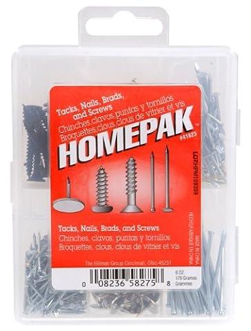 HOMEPAK 41823 Nails, Tacks and Brad Assortment