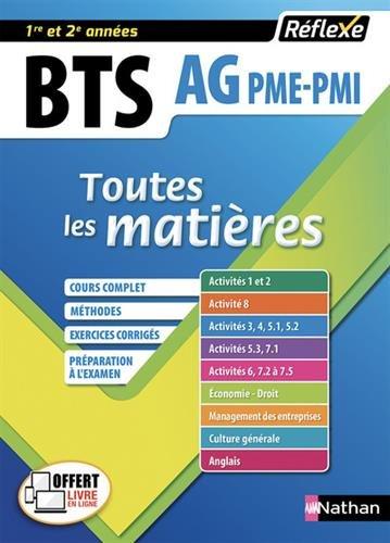 Toutes les matières Assistant de Gestion PME-PMI - BTS AG pme-pmi (10) par Eric TACCONE