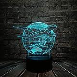 Illuminazione Globale Piano Terra Pianta Vittoria Cielo 7 Cambiare Umore Lampadina Pilota Camera Da Regalo Decorazione 3d Usb Tocco colore 7 colori Pianificazione della terra