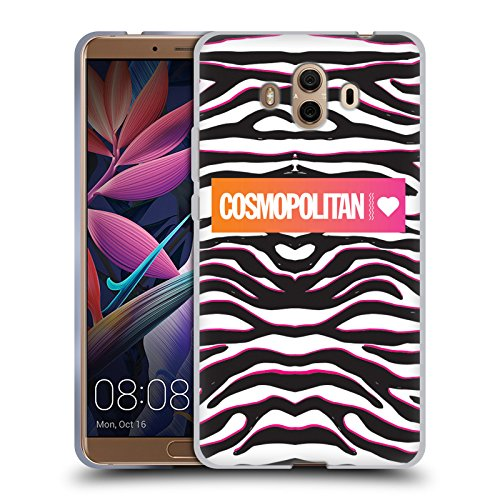 Official Cosmopolitan Classic Zebra Animal Print Soft Gel Case for Huawei Mate 10 (Slips Screen Print)