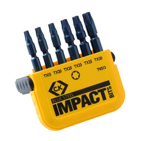 ck-blue-steel-t4513-impact-screwdriver-bits-torx-6-piece-set