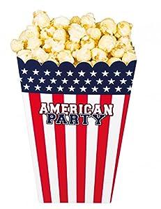 Boland BOL44959 Pop Corn American Party, 4 unidades, multicolor