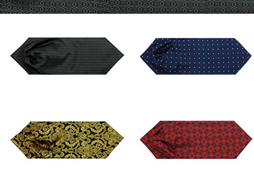 Panegy – Nouveauté Mouchoir Foulard Cravate Fine à Pois/ Rayures Hommes – Cravate Elegante Pour Costume Mariage Cérémonie Chemise soirée #18
