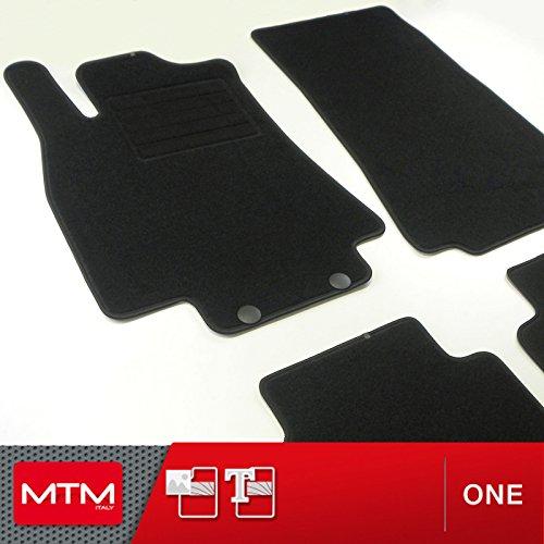 Mtm tappetini classe b (w245) dal 06.2005-2011 su misura come originali in velluto, battitacco in moquette, bordo antiscivolo, cod. one 1978