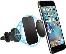 iVoler Soporte Movil Coche Air Magnético para Rejillas de Ventilación 360 grados Soporte Teléfono para Rejillas del Aire de Coche para iPhone 7/7 Plus,6s/6s Plus/6/6, Samsung Galaxy S7/S7 Edge/S6 /S6 Edge, Nexus, HTC, Sony y Android Smartphone GPS(Ne