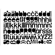 1 Bogen 20 mm Selbstklebende Kleinbuchstaben Folie schwarz