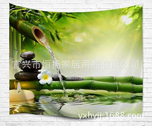 JCDZH-FT Digitaldruck Wasser Bambus Wandteppich Wandteppich Strand Handtuch, 153x130cm