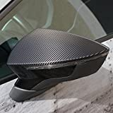 D044 Außenspiegel Dekor -Finest Folia Spiegel Aufkleber (3M™ Scotchprint® Wrap Folie 1080 Carbon Straight Fiber Black CF512)
