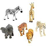 Un paquete con 6 Pcs de Animales de Imitativo Juguete de Imitación
