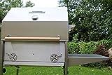 Barbecue PG 600ZE Inox Professionnel, barbecue au charbon de bois, hendl Grill, broche Griller, Braséro