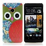 Handy Lux Schutz Hülle Etui Hard Case Cover Motiv für Samsung Galaxy Ace 2 i8160 - Eule rot