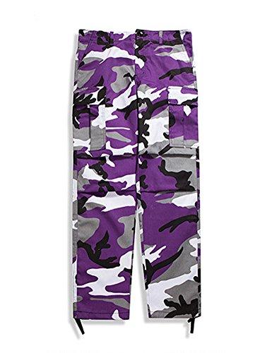 Idopy Pantalones de camuflaje para mezclilla para múltiples bolsillos para hombres