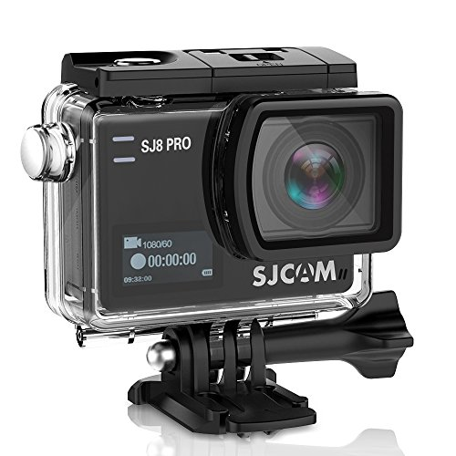 SJCAM SJ8 Pro Action Camera, Cámara 4 K Action CAM - Sports CAM (4 K/60fps, Ambarella H22 Sensor, 7 g Lens, Touchscreen, WLAN, USB Type-C, Impermeabile) Action CAM, Cámaras Deportivas Mini DVR