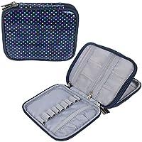Teamoy Custodia impermeabile Organizzatore cerniera per Crochet Ganci e accessori, Colorful Dots(No Accessori inclusi)