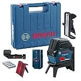 Bosch Professional 0601066F01 Niveau Laser Croix 2 Lignes GCL 2-50 + Module de réception LR6 en Coffret