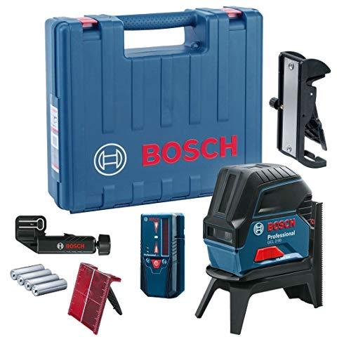 Bosch Professional Nivel láser de líneas GCL 2-50 + RM1, Dual Power baterías AA, Alcance 50m, en L-Boxx
