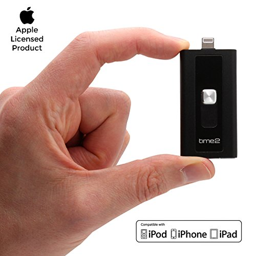 USB 3.0 Speicherstick für iPhone iPad Computer [Apple MFi zertifiziert] Lightning USB Stick, Erhöhen iPhone speicher bis zu 512GB, Flash-Laufwerk mit schnelle datentransfer & Micro SD-Kartensteckplatz