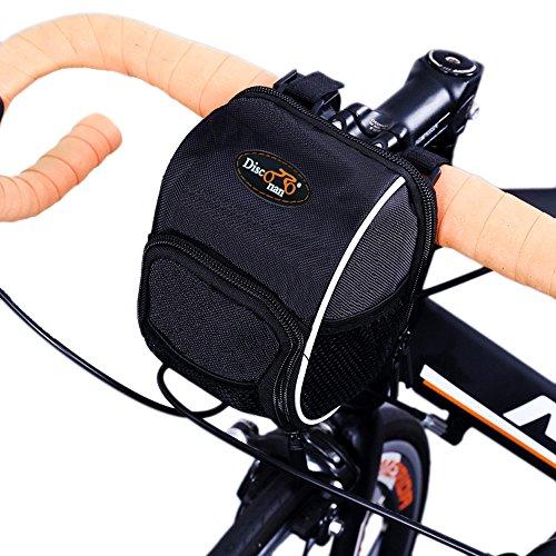 Disconano Fahrrad-Lenkertasche mit regendichter Schutzhaube