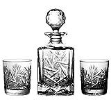 Lot de 6Verres à Whisky en Cristal au Plomb Aljulia avec 1Carafe à Whisky