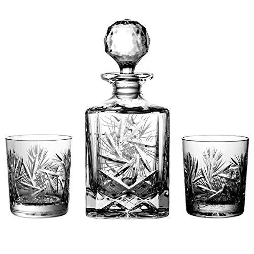 Lot de 6 Verres à Whisky en Cristal au Plomb Aljulia avec 1 Carafe à Whisky