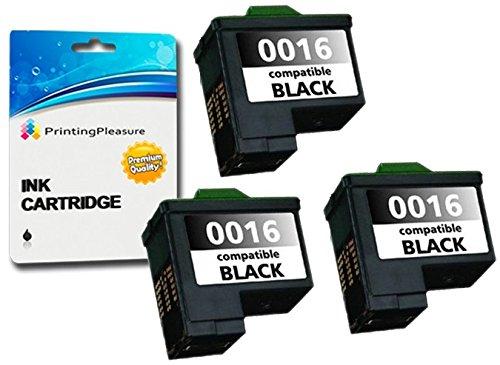 3 SCHWARZ Druckerpatronen für Lexmark i3 X1100 X1150 X1170 X1180 X1190 X1240 X1270 X2240 X2250 X72 X74 X75 Z13 Z23 Z24 Z25 Z25L Z35 Z513 Z515 Z600 Z605 Z615 Z640 | kompatibel zu Lexmark 16/17 -