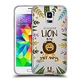 Head Case Designs Löwe Seelen Tiere Abbildungen Soft Gel Hülle für Samsung Galaxy S5 Mini