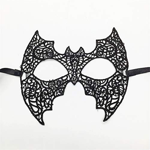 Kostüm Panda Womens - Oriental Panda große Fledermaus Frauen sexy Augenmaske für Halloween Karnevalsparty Kostüm Ball Lace Maske Augenmaske Spitze Maskerade Masken sexy Augenmaske sexy Lady Girl Lace Augenmaske schwarz