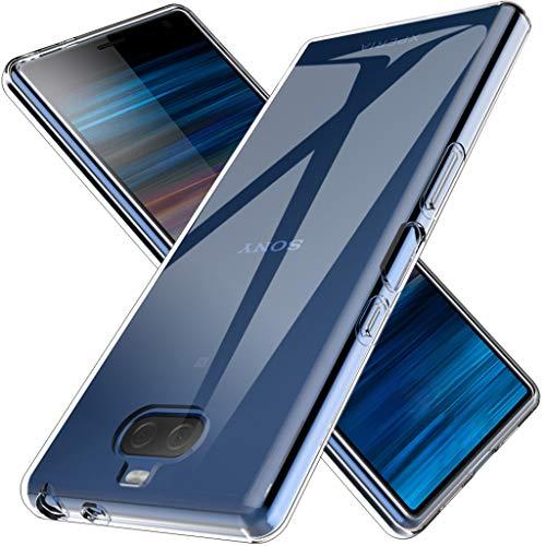 LK Coque pour Sony Xperia 10, Ultra [Svelte Mince] Housse Coque Protecteur Silicone Peau Douce Caoutchouc Gel TPU Résistant à la Rayure - Clair