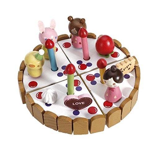 WINOMO Far finta di giocare giocattolo bambini Kids in legno compleanno torta