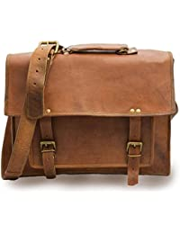 Vintage Genuine Leather Office Men's Laptop Messenger Bag (11x15)