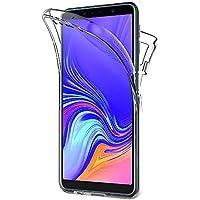 AICEK Cover Samsung Galaxy A7 2018, 360°Full Body Cover Samsung A7 2018 Silicone Case Molle di TPU Trasparente Sottile Custodia per Galaxy A7 2018 (6.0 Pollici)