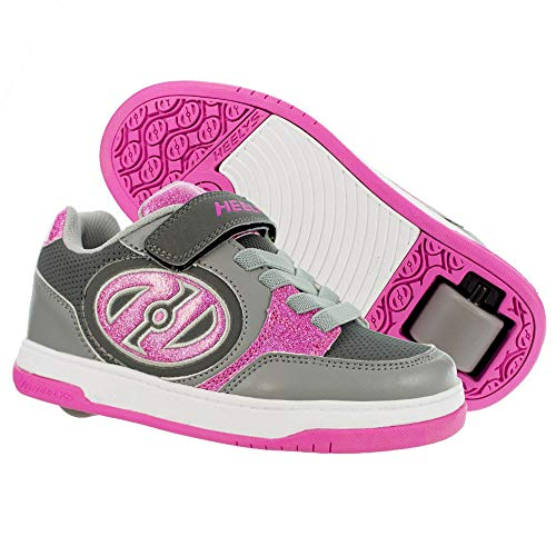Heelys Plus X2, Color Rosa, Talla 33 EU, Pink and Grey