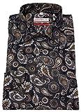 Marvelis Modern Fit Hemd Extra Langer Arm Muster Braun Größe 44