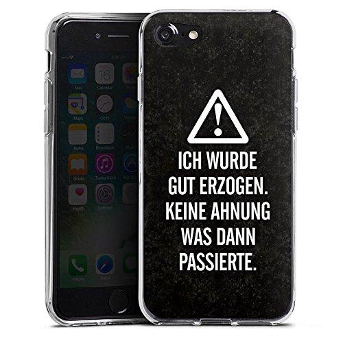 Apple iPhone X Silikon Hülle Case Schutzhülle Leben Spruch Humor Silikon Case transparent