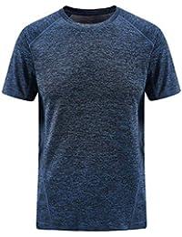 7503220d4756 JIANGfu Uomo Maglietta Tinta Unita Vintage,T-Shirt Manica Corta Girocollo  Stile Retro Casuale