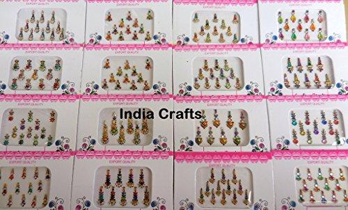 india-crafts-15-bindi-packs-indian-bindi-ethnic-forehead-tika-face-jewels